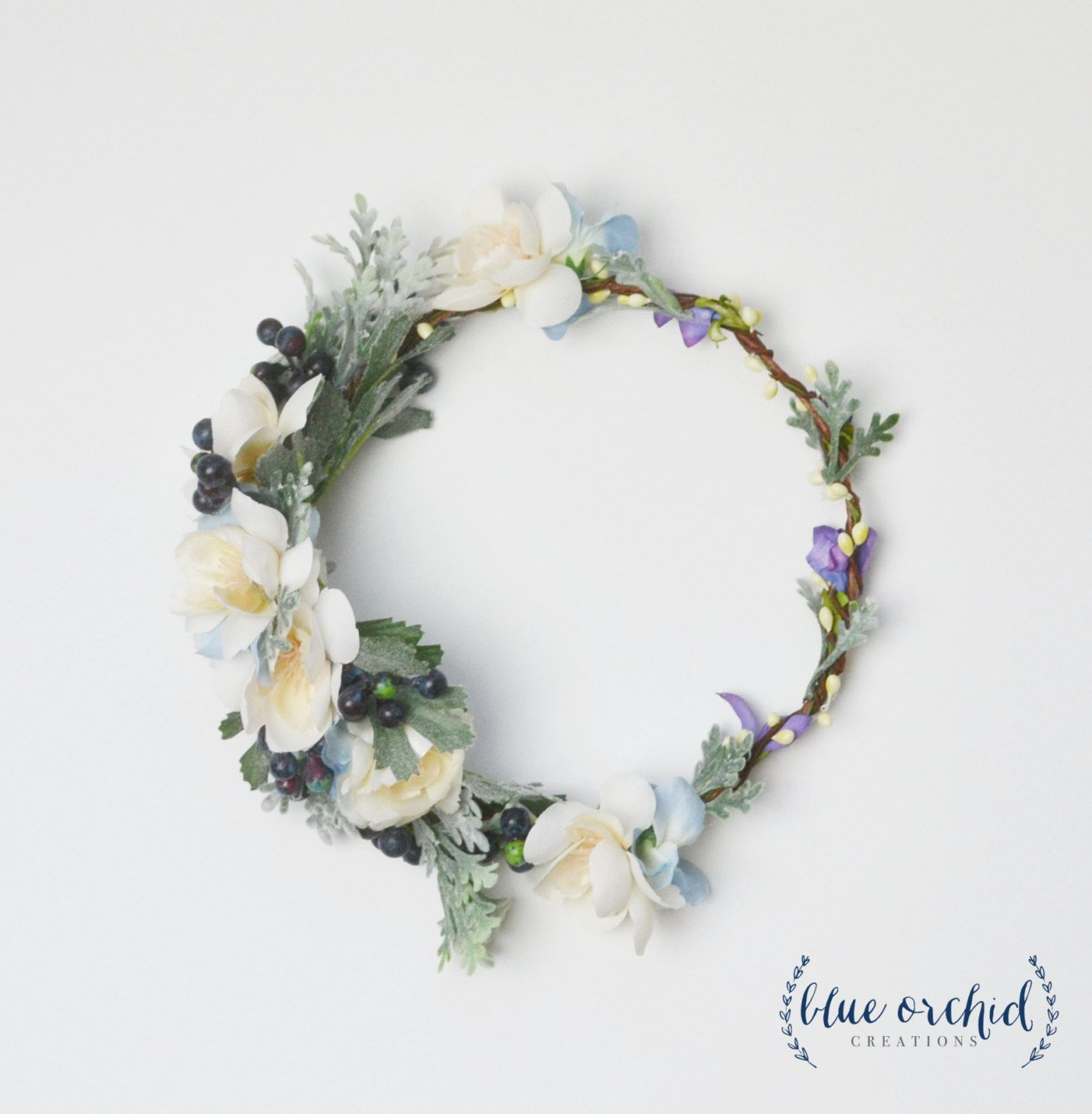 Flower crown boho wedding blue flower crown berry floral crown flower crown boho wedding blue flower crown berry floral crown flower izmirmasajfo