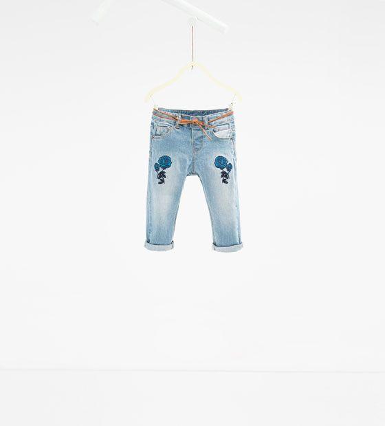 Floral Embroidered Jeans Baby Girl Stuff Embroidered Jeans Kids