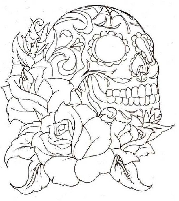 free sugar skulls coloring sheets skullzvariety pinterest