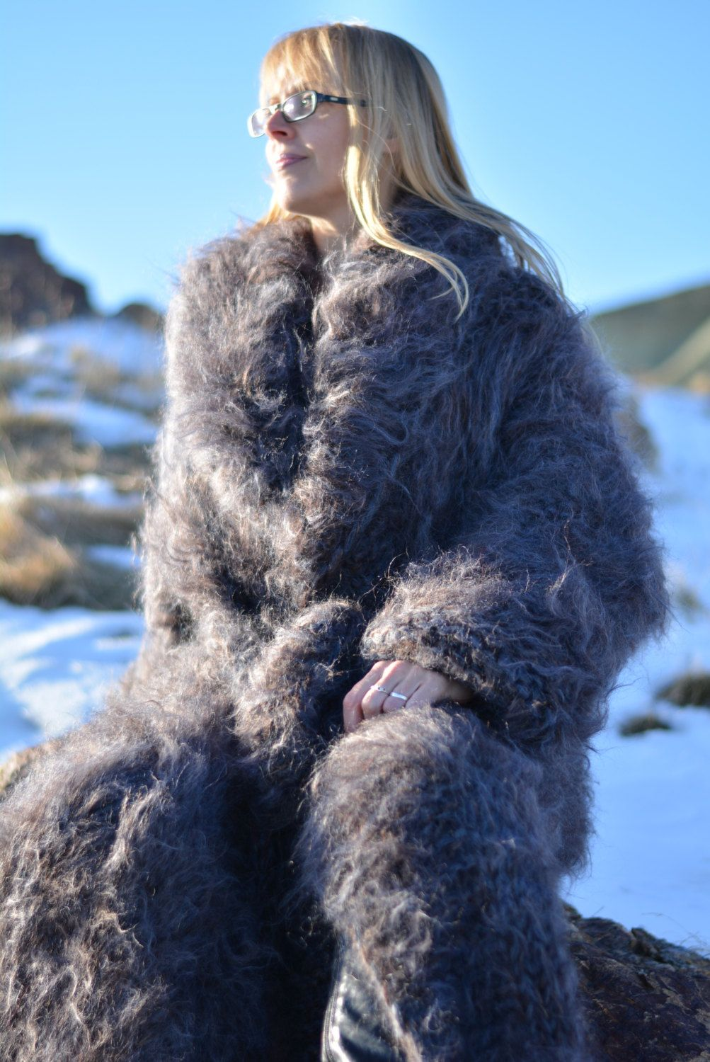 MADE to ORDER hand knitted mohair sweater coat super