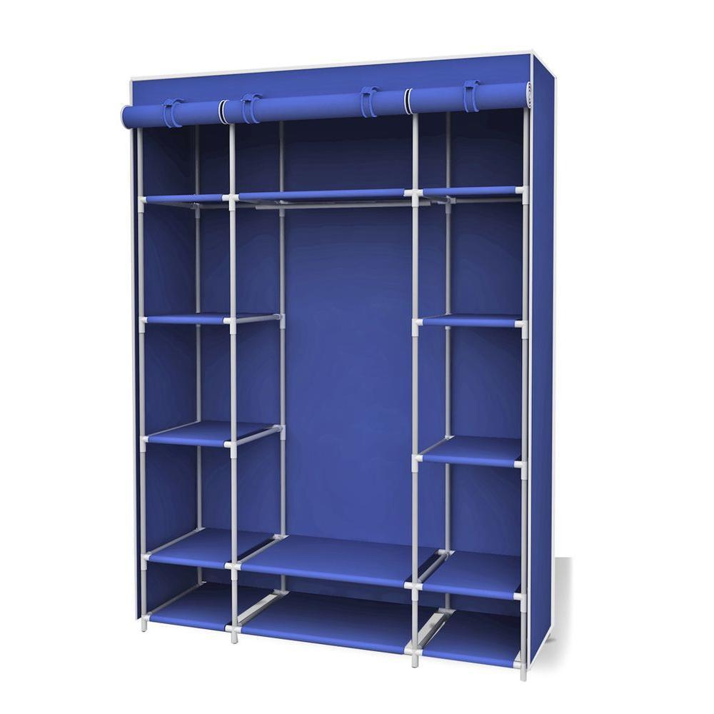 Sunbeam 67 In H Navy Storage Closet With Shelf Closet Storage Shelves Storage