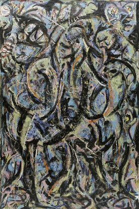 Gothic by Jackson Pollock. 1944