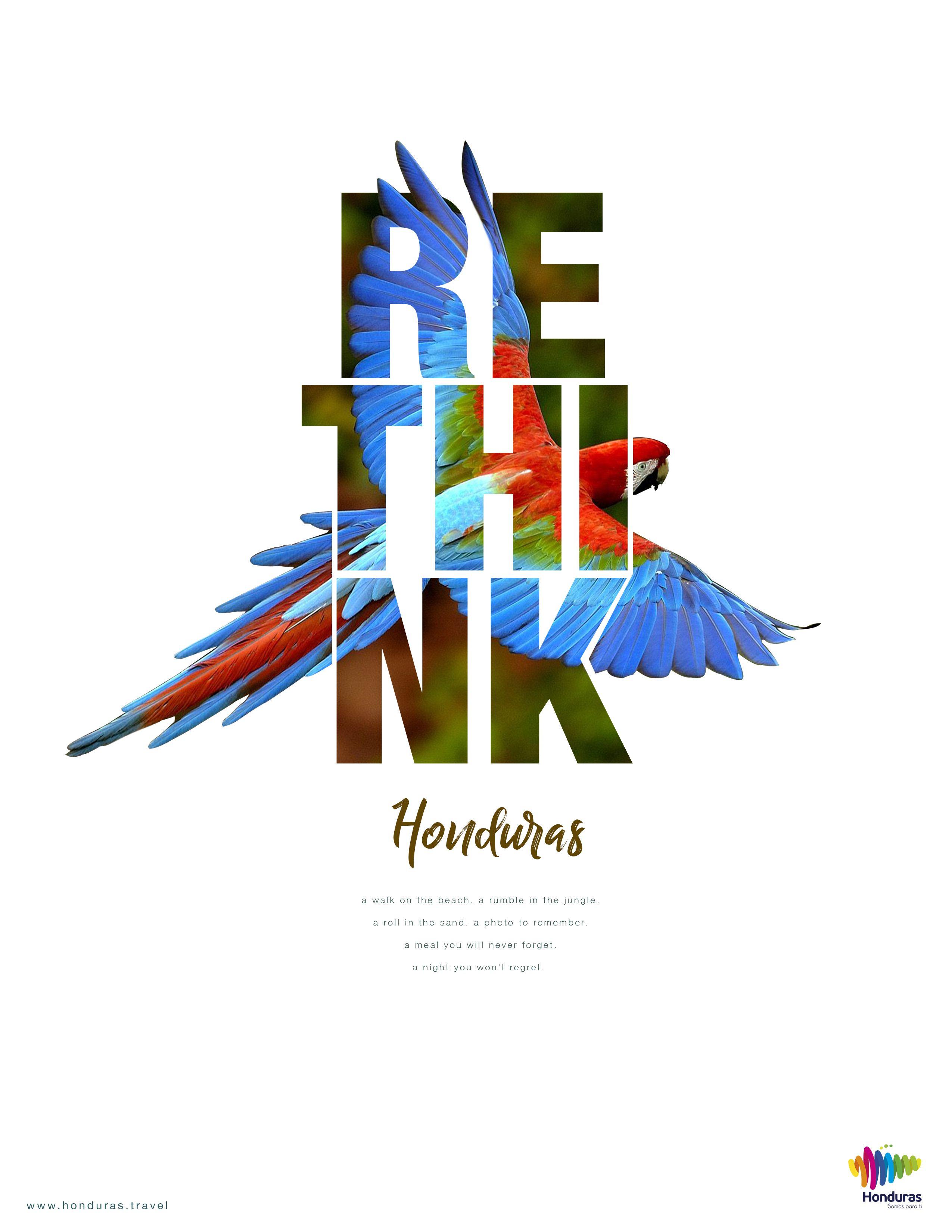 Rethink Honduras, Art Direction Diseño de póster, Diseño