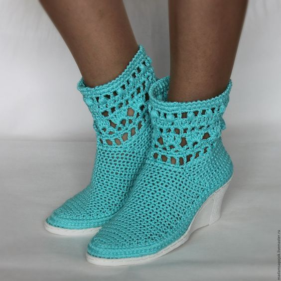 Örgü Ayakkabı Modelleri ve Yapımı | Kadinlarin sesi,kadın,yemek,örgü ...