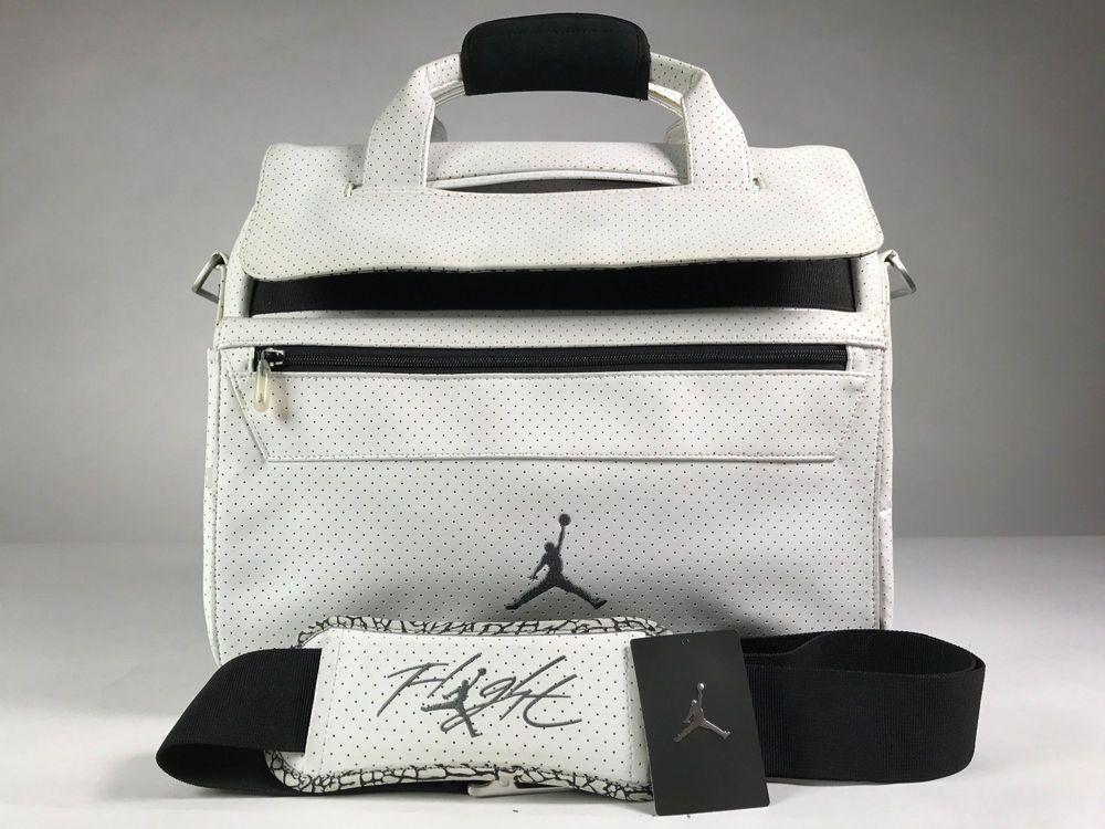 Air Jordan 3 Cement Messenger Laptop Bag Used With Tags Good Condition Messengershoulderbag