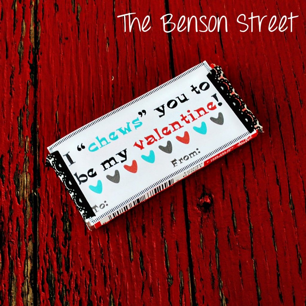 Chewing Gum Valentine {Printable Valentines Day Six} - The Benson Street
