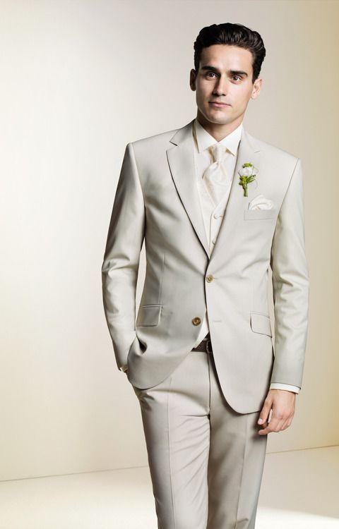 beige suit - Google Search | Wedding | Pinterest | Beige suits ...