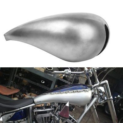 """Motorcycle Custom 5/"""" Stretched 4.5 Gal Gallons Fuel Gas Tank For Harley Chopper"""