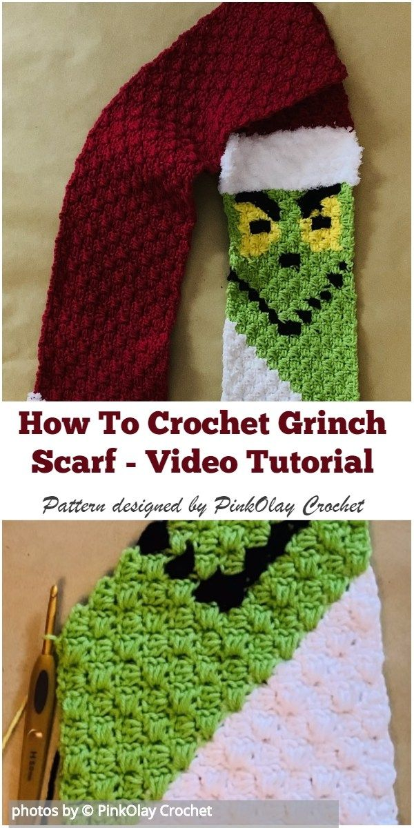 How To Crochet Grinch Scarf Video Tutorial #howtocrochet #crochetgrinchscarf #crochetscarf #grinchscarfcrochetpatternfree
