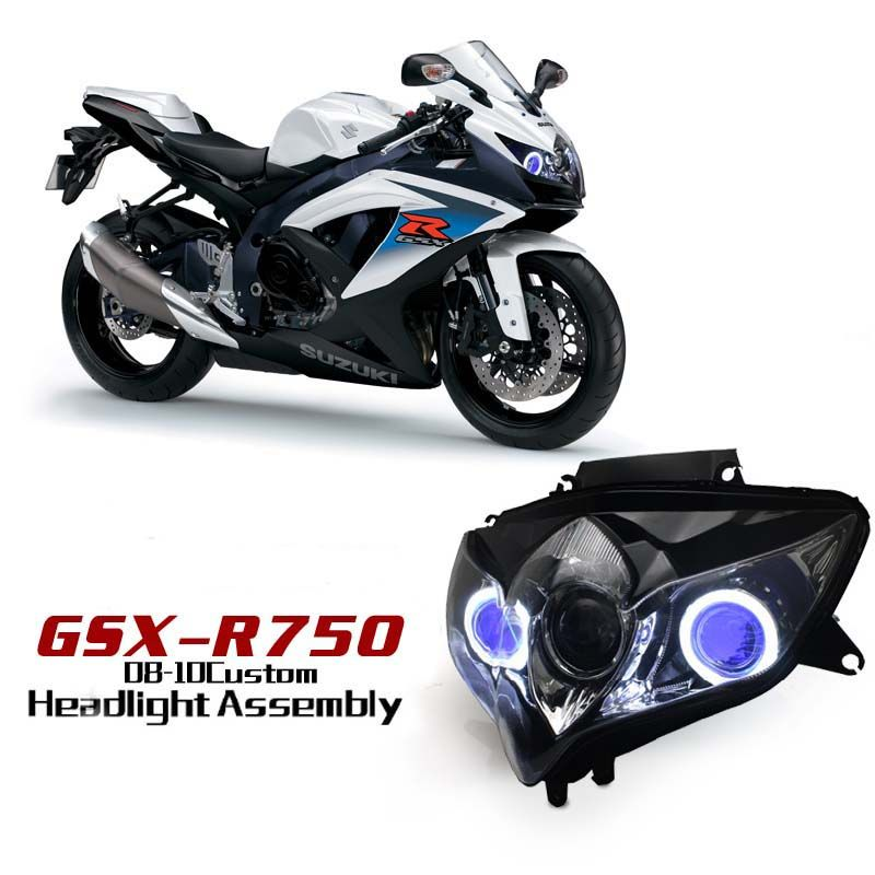 Suzuki GSX-R750 2008-2010 Super bright LED angel eye http://www.ktmotorcycle.com/custom-headlights/suzuki-custom-headlights/suzuki-gsx-r750/suzuki-gsx-r750-2008-2010.html