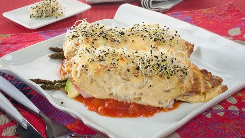 Receta de Rollitos de tortilla gratinados