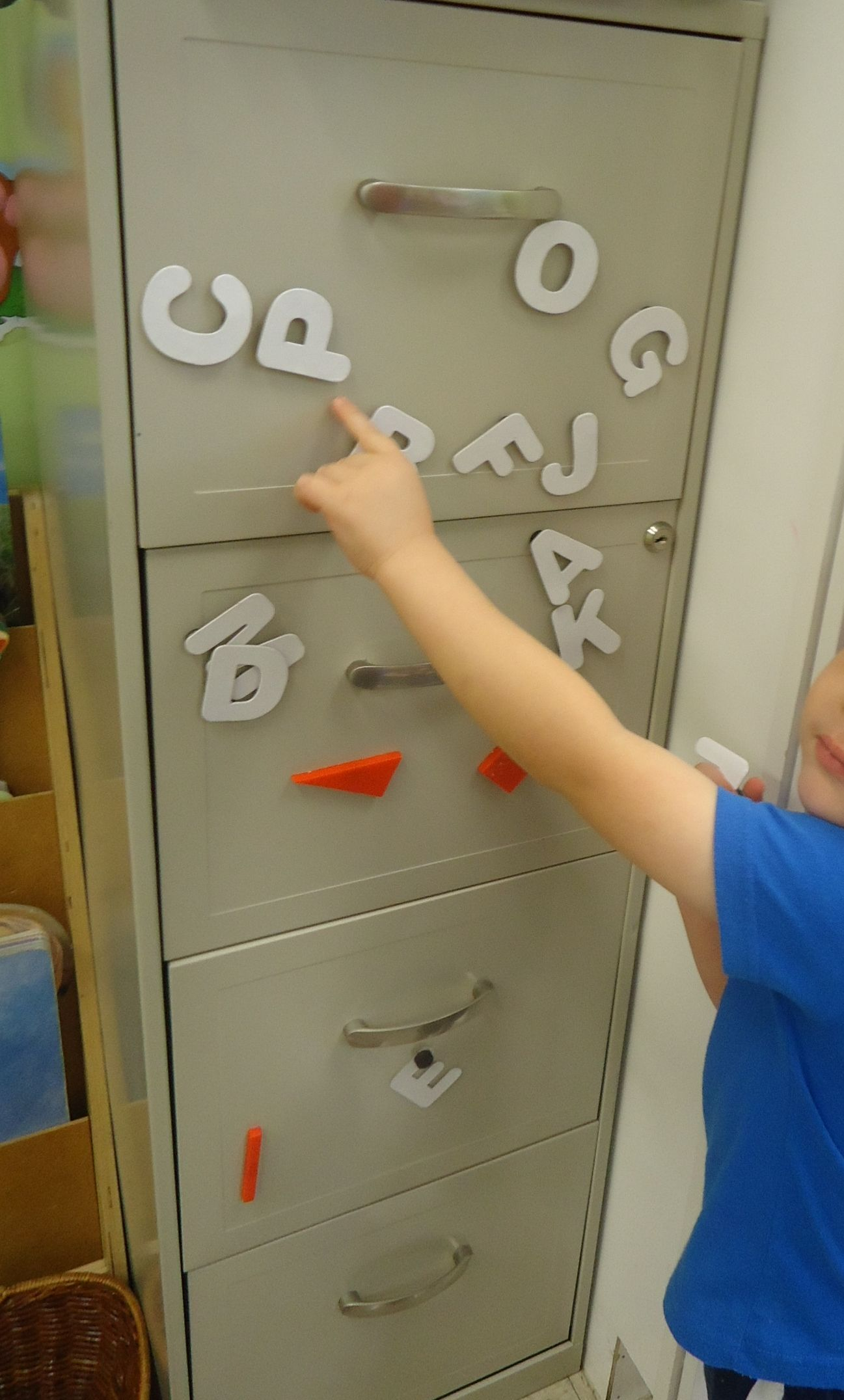 Use Your File Cabinit For Magnet Letters And Shapes