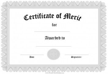 Merit Certificate Sample Certificate Of Merit  Art Projects  Pinterest  Certificate .