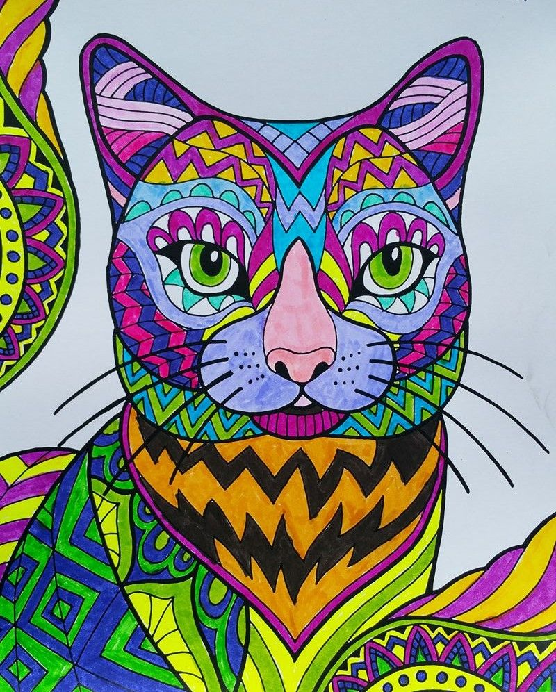 ColorIt Cats, Kittens, and Wildcats Adult Coloring Book ...