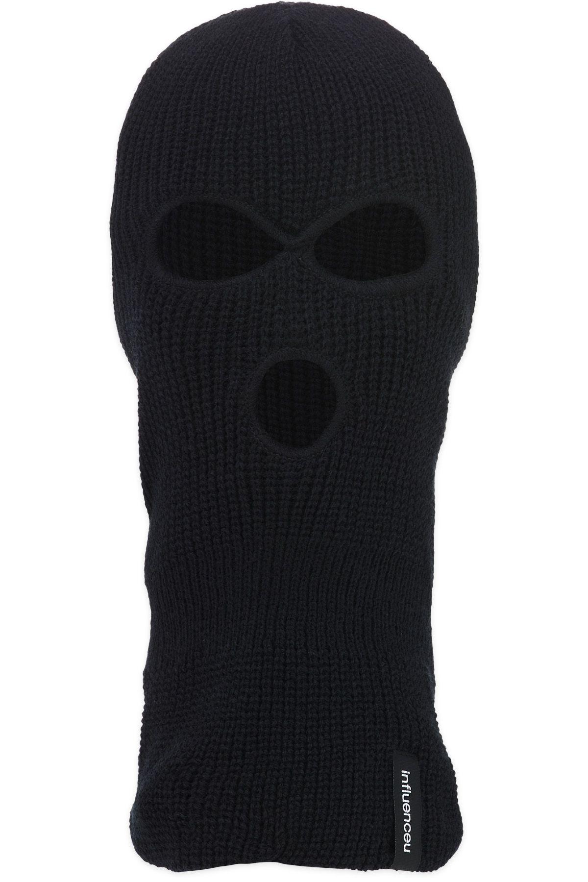 Influenceu Three Hole Ski Mask Balaclava Black In 2021 Ski Mask Balaclava Black