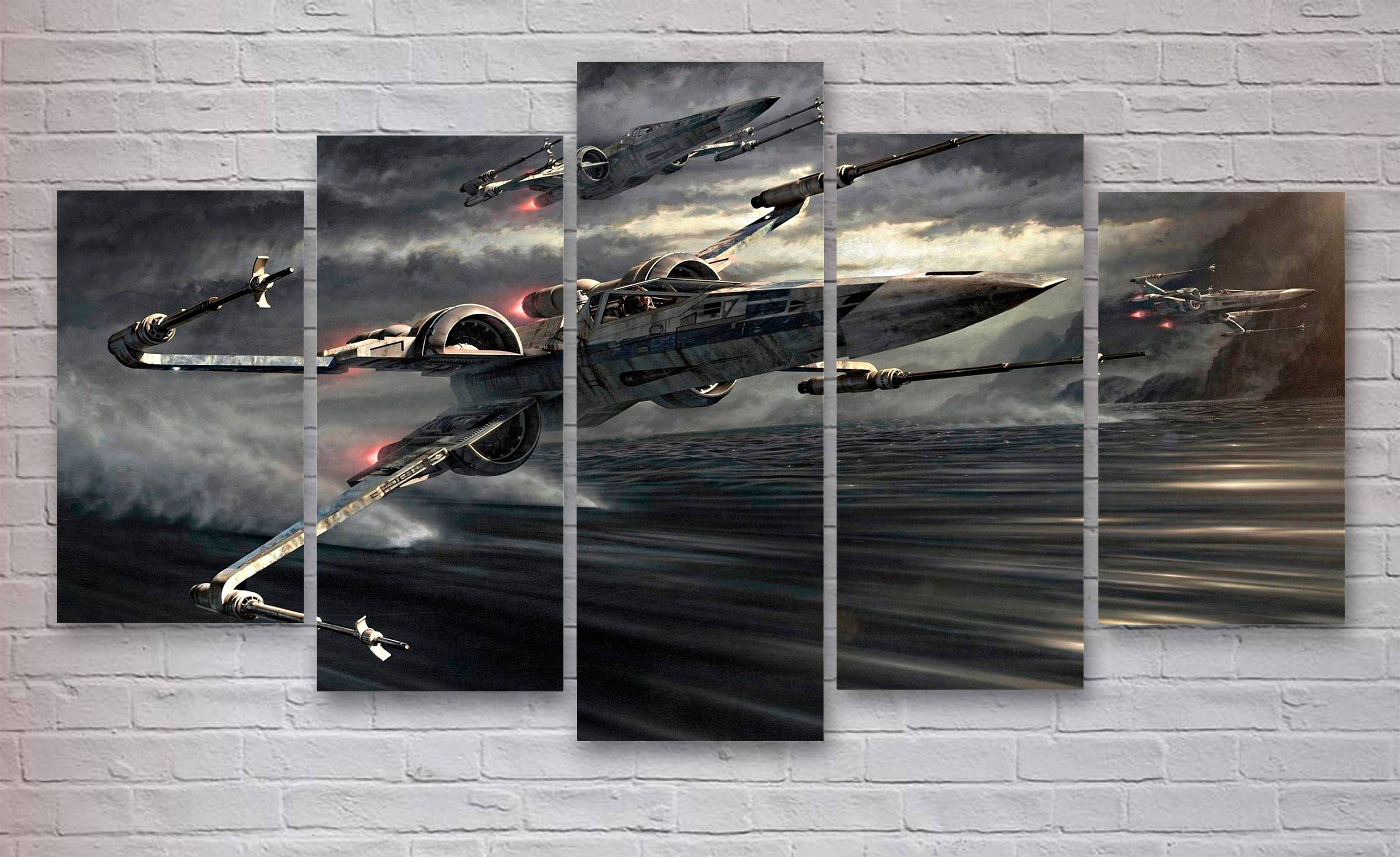Star Wars X Wing 5 Panel Canvas, X Wing Fighter, X