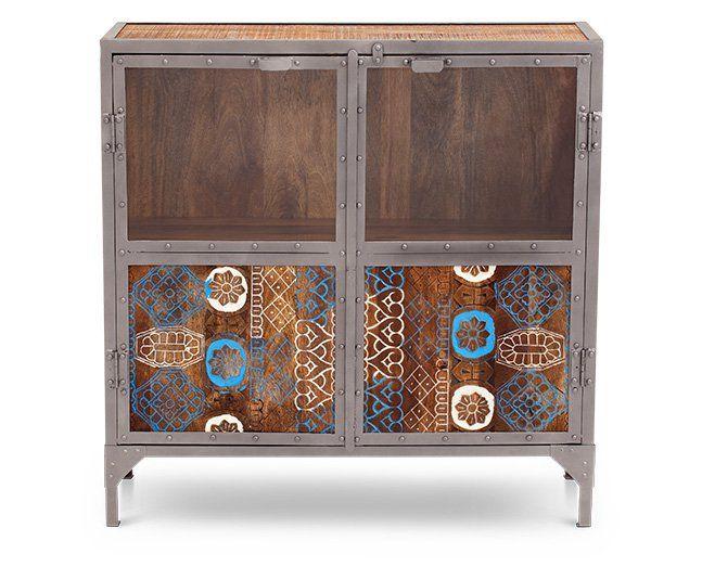 Batik Block 2 Door Cabinet - $499