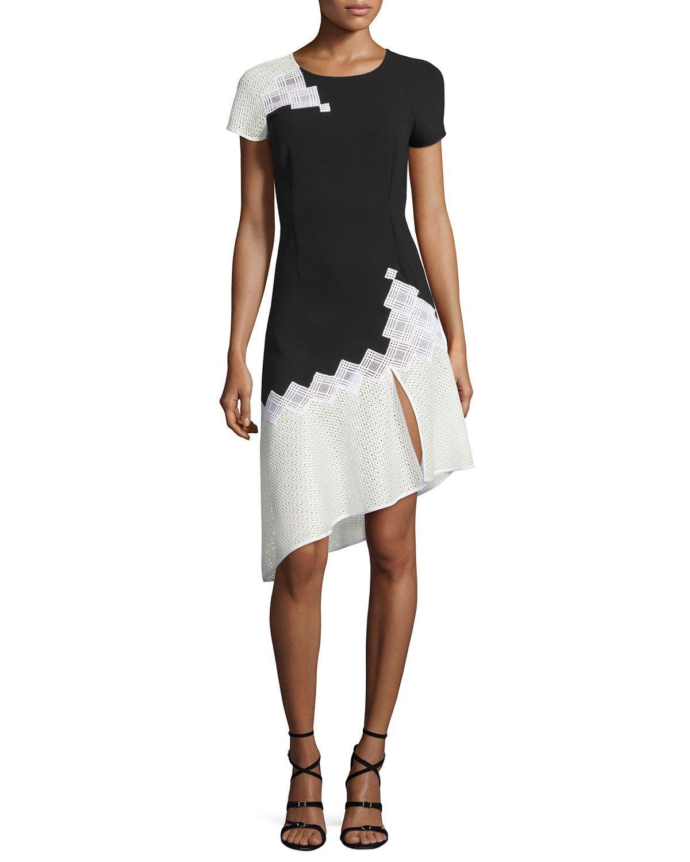 Diamondmesh shortsleeve tee dress blackwhite products