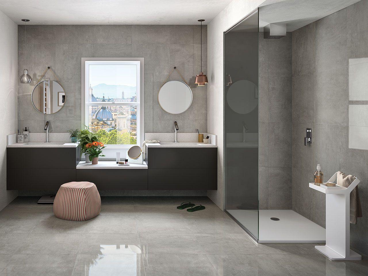 Piastrella Must Grey 60x60 Lappato Gres Effetto Cemento Grigio