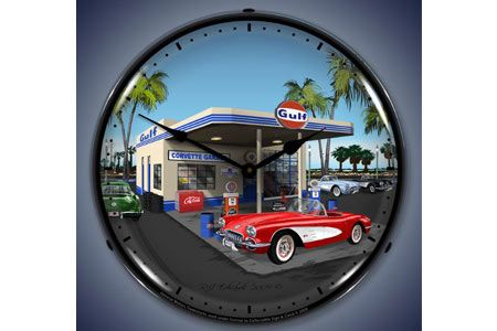 1959 Corvette Lighted Clock