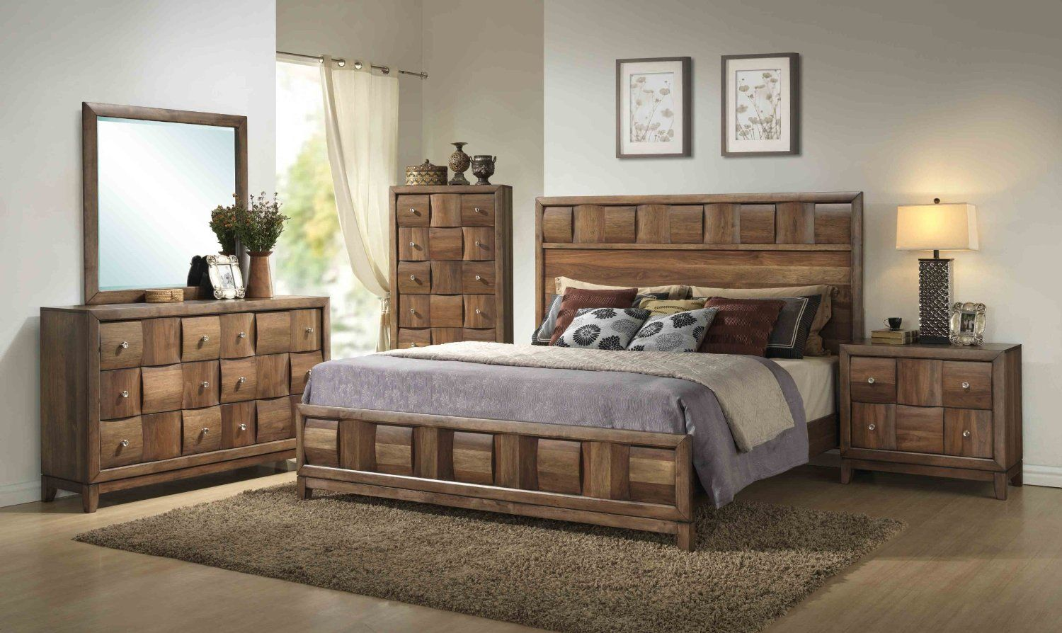 Sleigh Bed - King, Queen, Twin, Upholstered