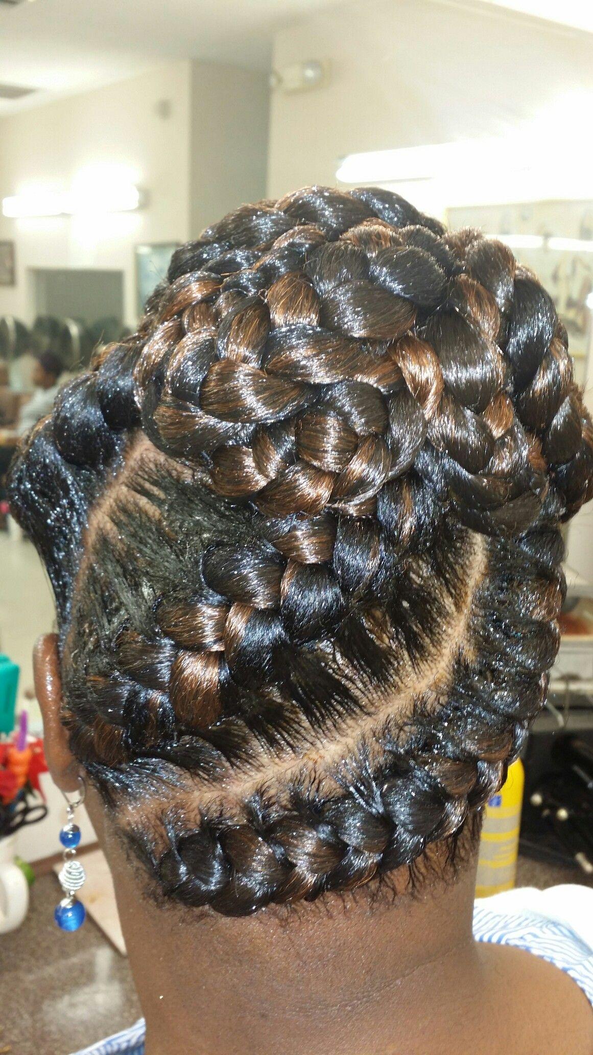 Black hair updo hairstyles image by Jeanne Henderson on ...