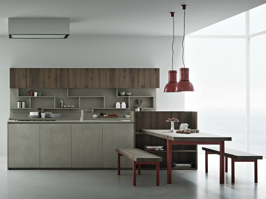 LINE K Kitchen With Island By Zampieri Cucine Design Stefano Cavazzana