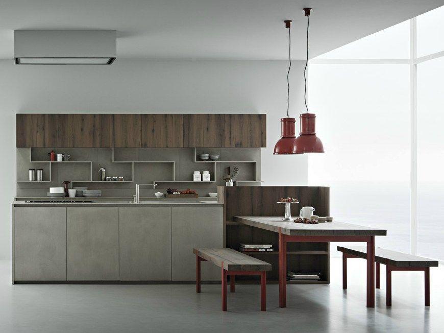 LINE K Kitchen With Island By Zampieri Cucine Design Stefano Cavazzana