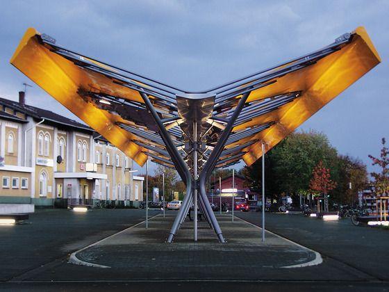 Bus Station In Emsdetten Train Station Architecture Bus Station Bus Stop Design
