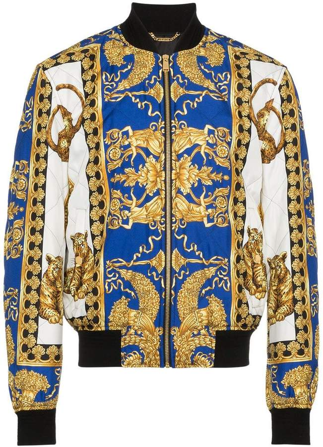 fa359357be Versace Barocco print bomber jacket | David's Style in 2019 ...