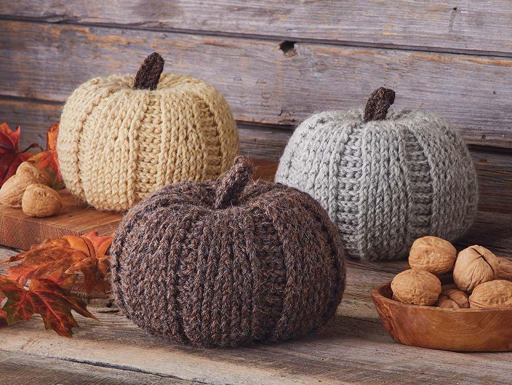 Rustic Pumpkins Mary Maxim\u0027s 2018 Fall Home Designs Pinterest - halloween arts and crafts decorations