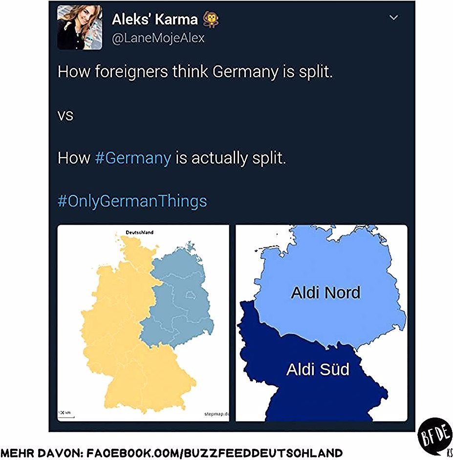 Aldi Nord Vs Aldi Sud In 2020 German Humor Funny Twitter Posts Funny Stories