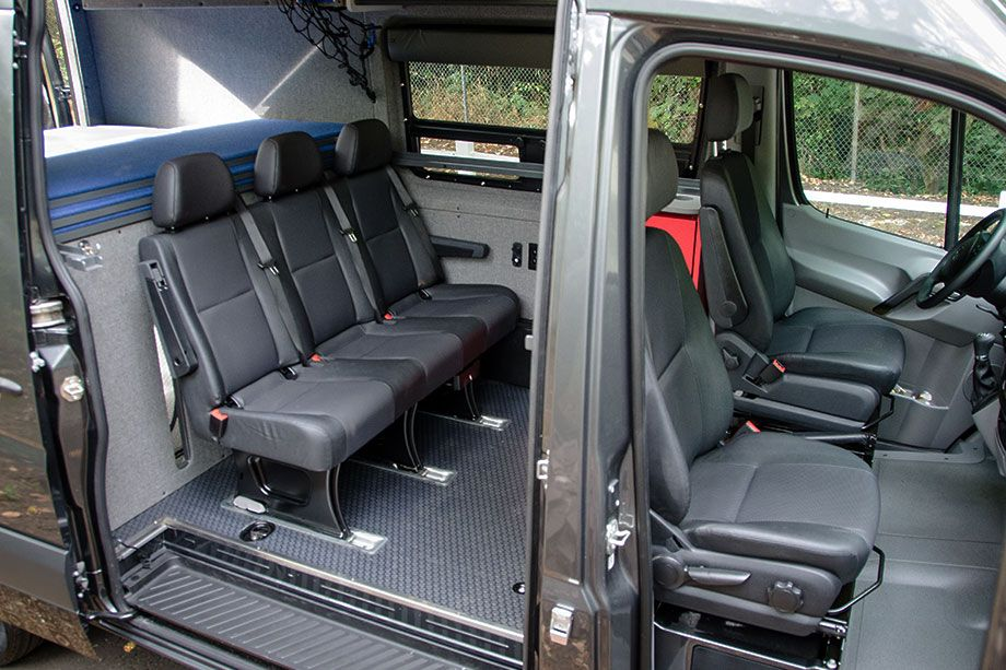 Removable 3 Person Bench Seat Outside Van Sprinter Van