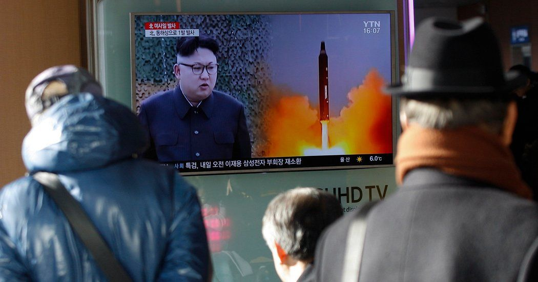 Trump Responds to North Korean Missile Launch With Uncharacteristic Restraint - The New York Times