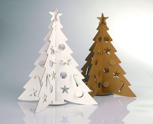Tabletop Cardboard Christmas Tree By Cloudgate Design Modern Christmas Tree Christmas Tree Decorations Alternative Christmas Tree