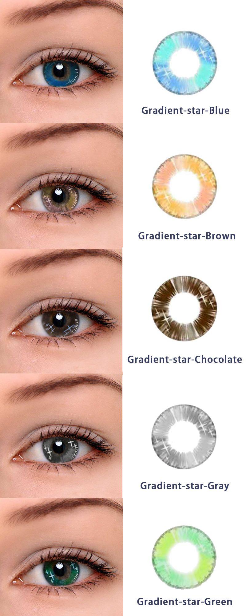 ttdeye com gradient star series gradient star brown chocolate