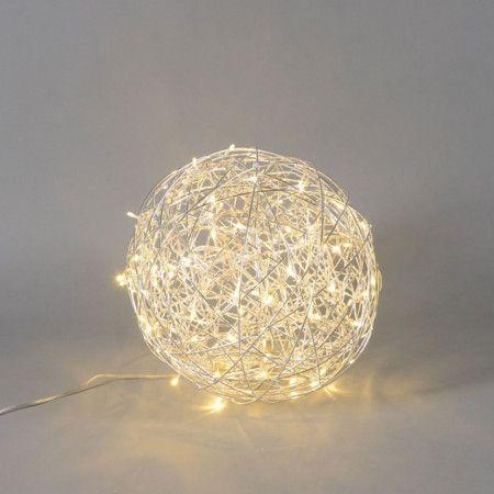 Bodenleuchte Draht Kugel 40cm LED Aluminium #Lampe ...
