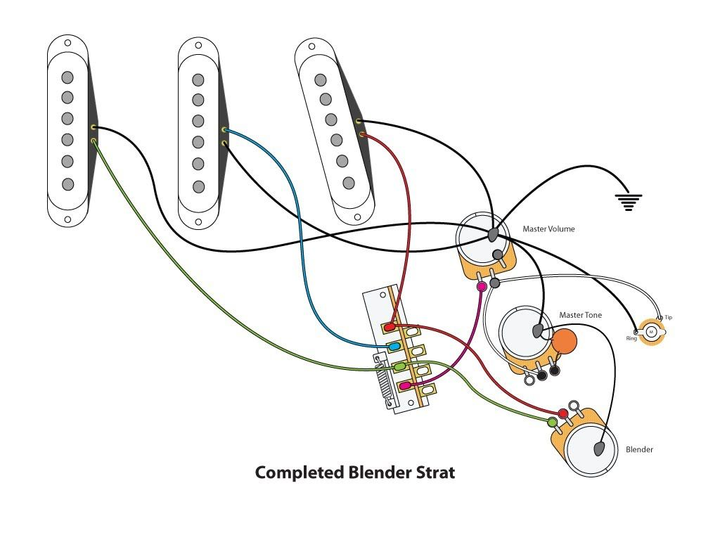 50254e87cc1736900ce5a74e738cc075 blender strat wiring (diy) strat pinterest blenders, jeff 7 sound strat wiring diagram at bayanpartner.co