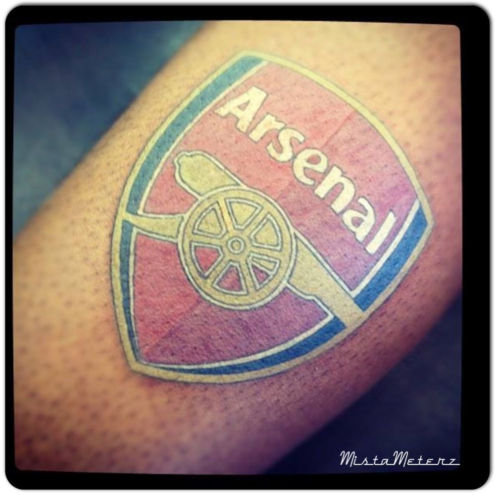 arsenal fc tattoo by mistameterz footballtattoo colourink tatuering pinterest arsenal fc. Black Bedroom Furniture Sets. Home Design Ideas