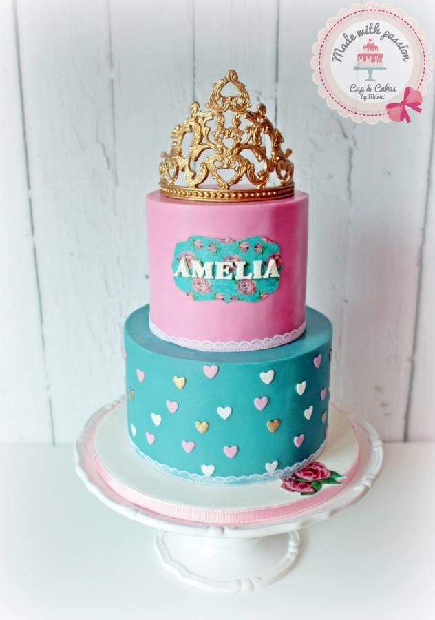 Little Princess 1st birthday Cake by Maria cakes made with