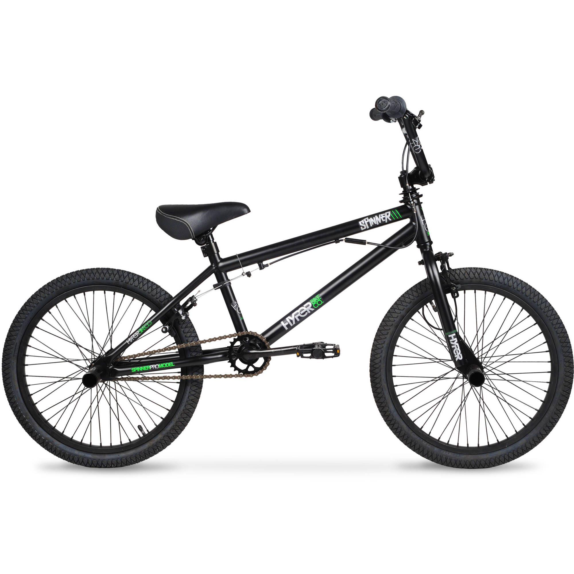 20 Hyper Spinner Pro Boys Bmx Bike Black Green Walmart Com
