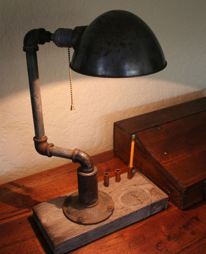 Pencil-Holder Lamp. Cool in like a shop garage!