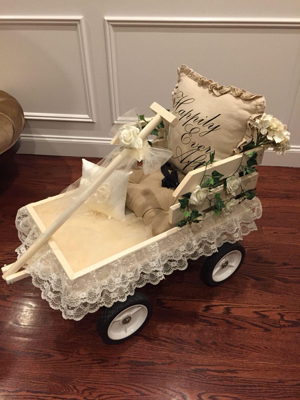 Diy Wedding Wagon Custom Wagon From Etsy Decorated By Me Wagon For Wedding Diy Wedding Wagon Diy Wedding
