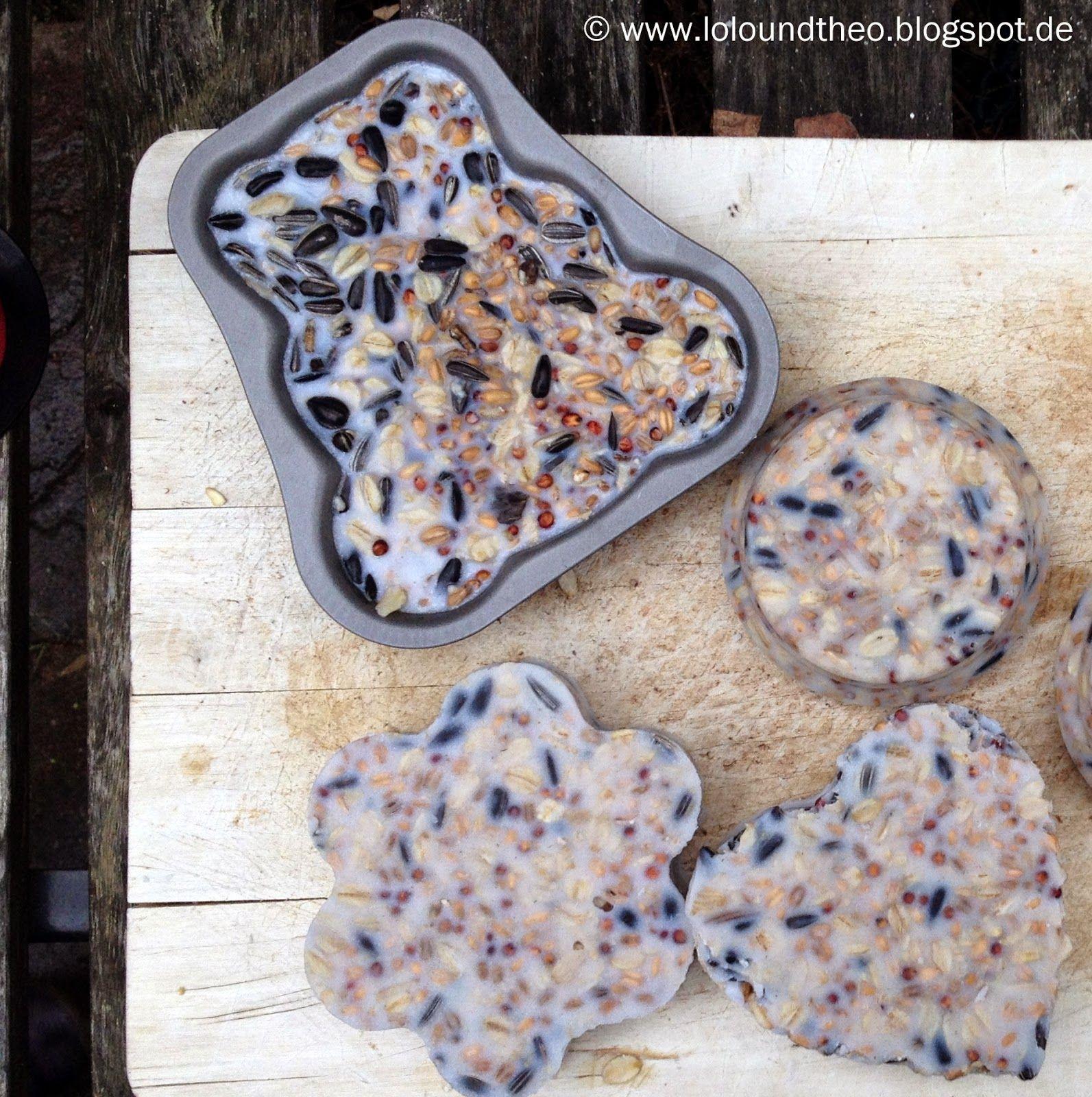 Vogelfutter selber machen - hübsch und lecker / DIY Vogelfutter Ring Anhänger / www.loloundtheo.blogspot.de