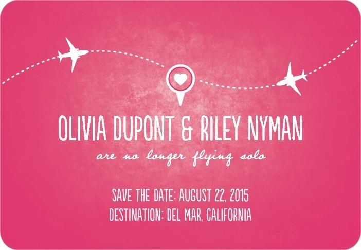 Long Distance Relationship Wedding Invitation: Great Save The Date For The End Of A Long-distance