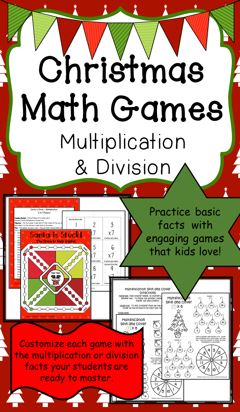 Christmas Math Games: Multiplication and Division | Multiplication ...