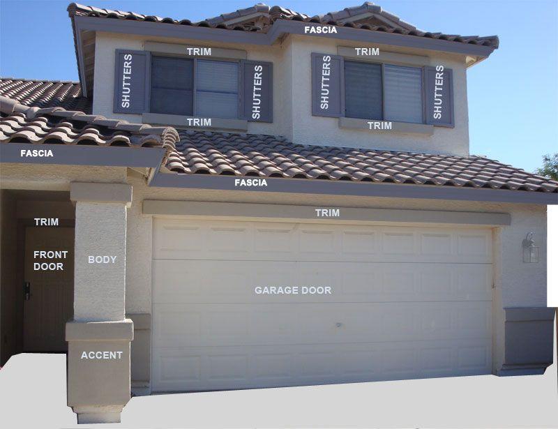 Ideas For Exterior House Colors Shutter Colors Paint Color - Exterior home color schemes