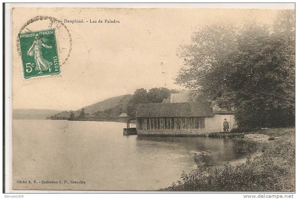 Lac De Paladru Garage A Bateau Lac Dauphin Carte Postale