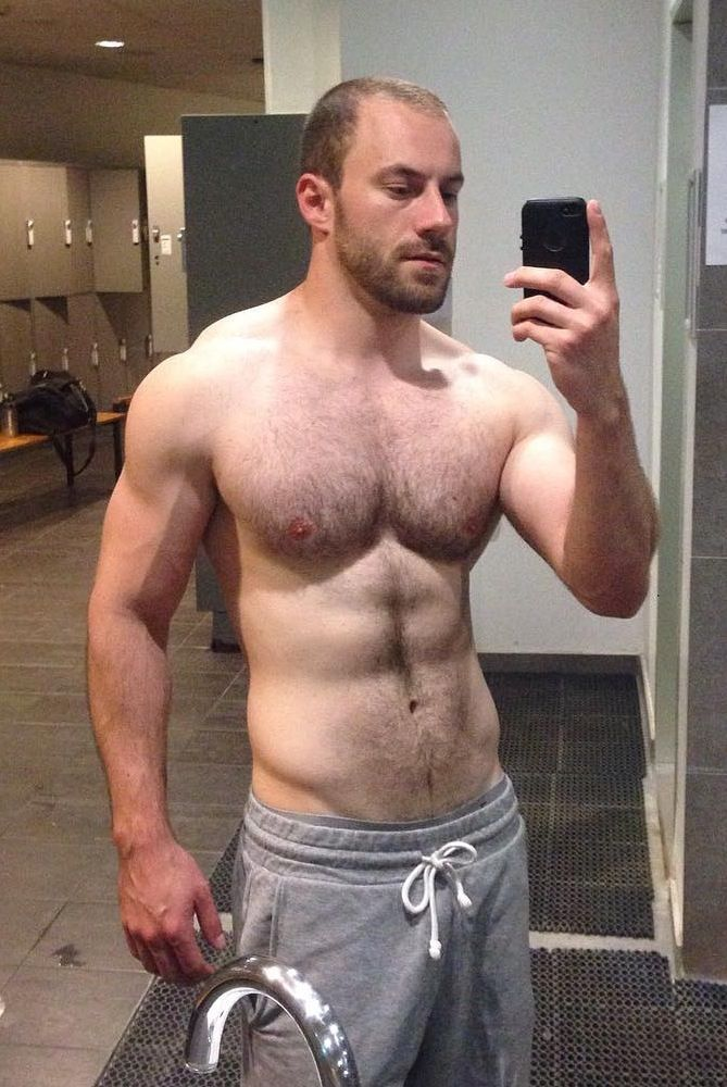 Selfie At The Gym  Hairy Muscle Men, Sexy Men, Frat Guys-2998
