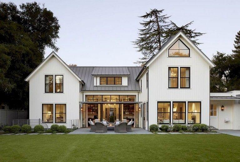 35 Exciting Modern Farmhouse Home Exterior Design Ideas Farmhouse Homeexterior Exteri Modern Farmhouse Exterior Farmhouse Style House Farmhouse Architecture